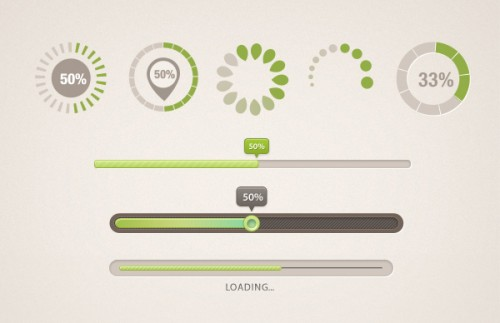 9 Different Shaped Progress Bar PSD