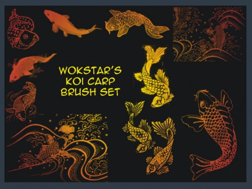 Cool Free Koi Carp Brushes