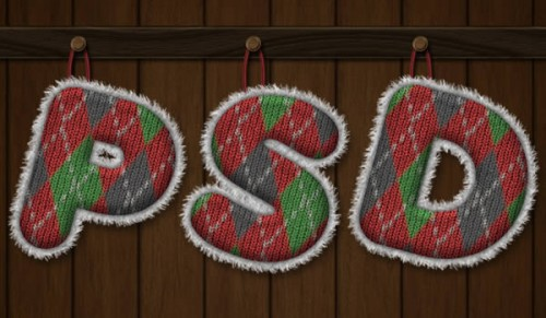 Create a Knitted Argyle Text Effect