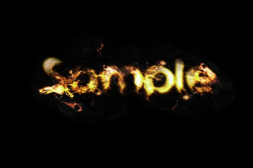 Golden Flame Text Effect in Photoshop