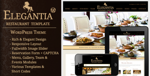 Elegantia - Restaurant and Cafe WP Theme