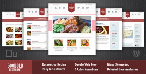 Goodold Restaurant - Responsive WP Theme