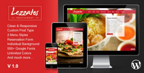 Lezzatos: Restaurant Responsive WP Theme