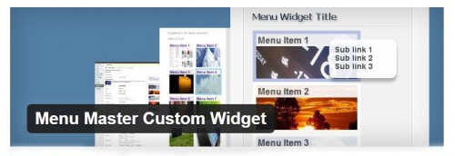 Menu Master Custom Widget