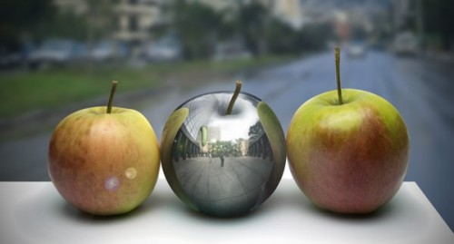 Photo-Realistic Metal Apple in Photoshop