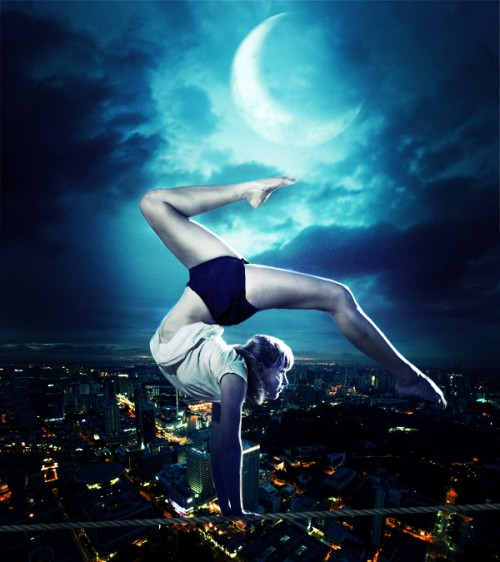 Tightrope Dancer in Photoshop