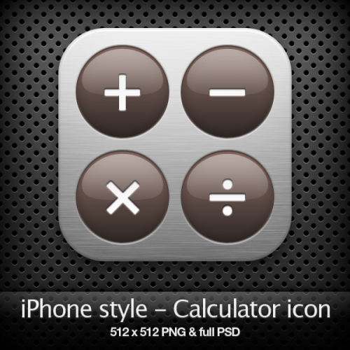 iPhone Style - Calculator Icon