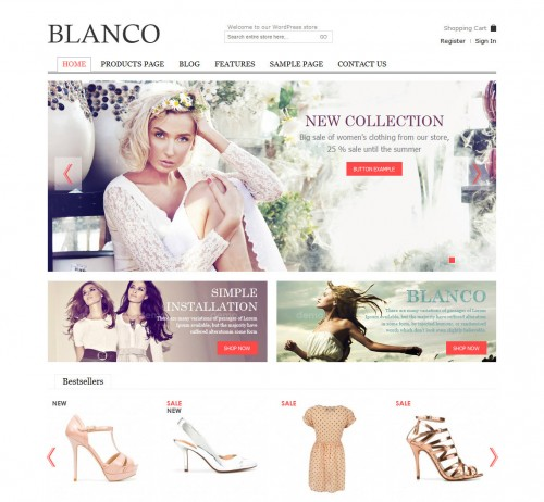 Blanco - Responsive WP E-Commerce Theme
