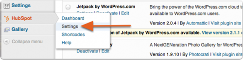 HubSpot for WordPress