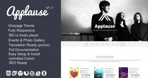Applause -One-Page Music & DJ Theme