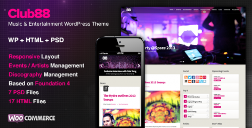 Club88 - Premium Music WordPress Theme