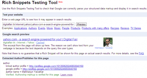 Google Authorship Widget