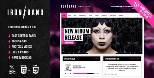 IronBand - Responsive Music & DJ Theme