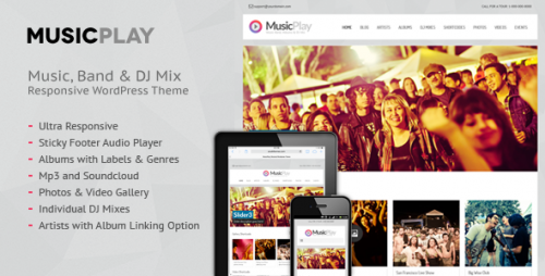 MusicPlay - Music & DJ Responsive Theme