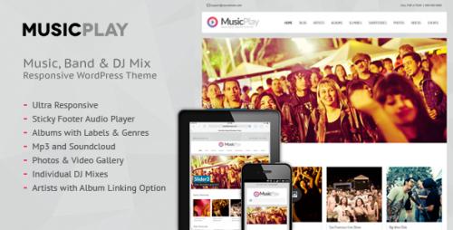 MusicPlay - Music & DJ Responsive Theme