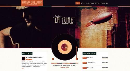 Tuned Balloon - Music WordPress Theme