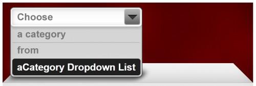 aCategory Dropdown List
