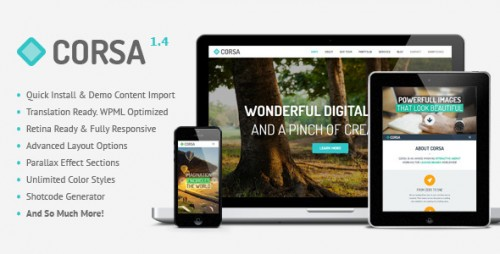 Corsa - Retina Responsive OnePage Theme