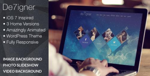 De7igner - Flat iOS7 Inspired OnePage Parallax Theme