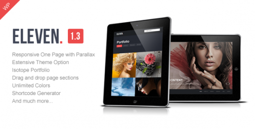 Eleven - WP Responsive One Page Parallax Theme