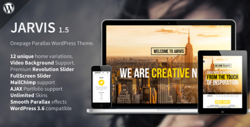 Jarvis - Onepage Parallax WordPress Theme