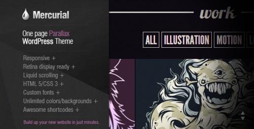 Mercurial - One Page Parallax WordPress Theme