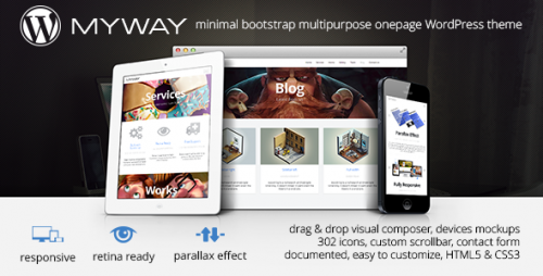 Myway - Onepage Bootstrap Parallax Retina Theme