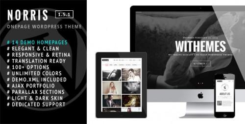 Norris - Elegant Onepage WordPress Theme