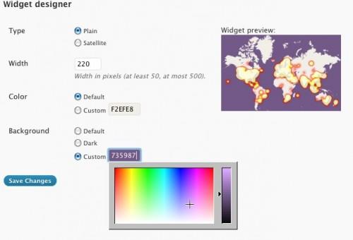PulseMaps Visitor World Map