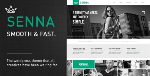 Senna - Responsive Portfolio WordPress Theme