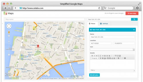 Simplified Google Maps Light