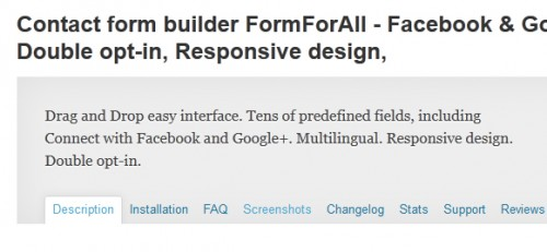 Contact form builder FormForAll