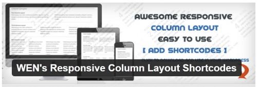 WEN's Responsive Column Layout Shortcodes