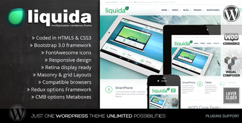 Liquida - Responsive MultiPurpose WP Theme