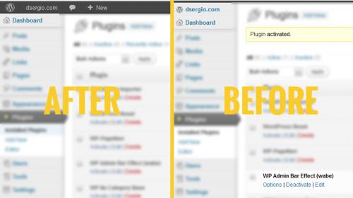WP Admin Bar Effect