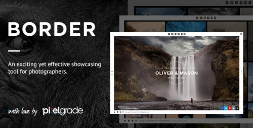 BORDER - Photography WordPress Theme