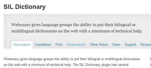 SIL Dictionary