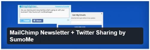 MailChimp Newsletter + Twitter Sharing