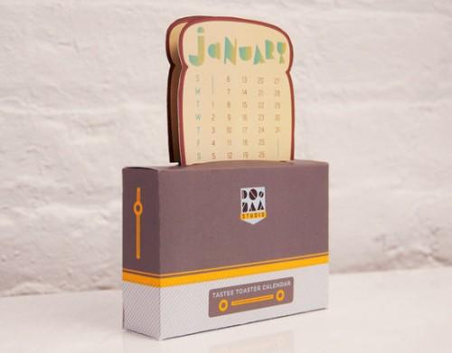 Tastee Toaster Desktop Calender