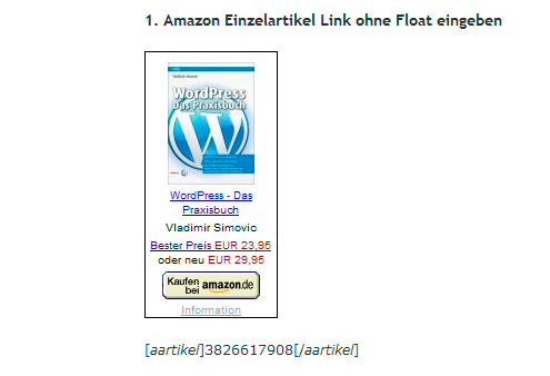 Amazon Einzeltitellinks