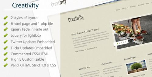 Creativity - Modern Business, Portfolio Template