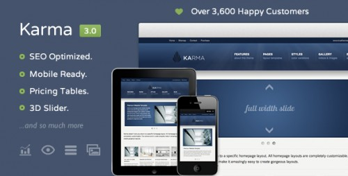 Karma - Responsive Clean Website Template