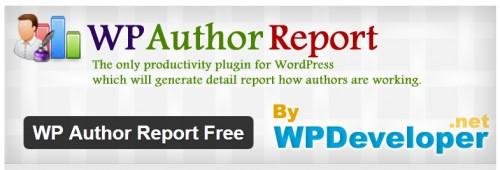 WP Author Report Free