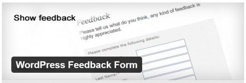 WordPress Feedback Form