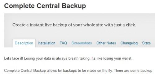 Complete Central Backup