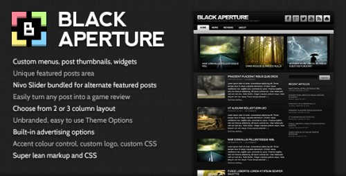 Black Aperture: Game Review Theme for WordPress