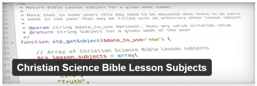 Christian Science Bible Lesson Subjects