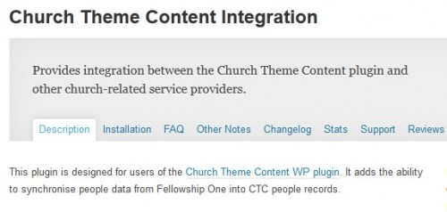 Church Theme Content Integration
