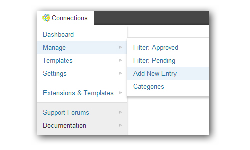 Connections Business Directory Toolbar