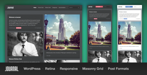 Journal Responsive WordPress Tumblog Theme